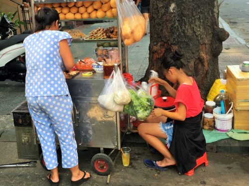 ベトナム料理 バインミー 露店販売