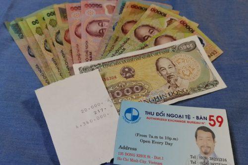 ベトナム 両替 紙幣