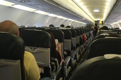 バンコク旅行 飛行機内 ソーシャルディスタンス