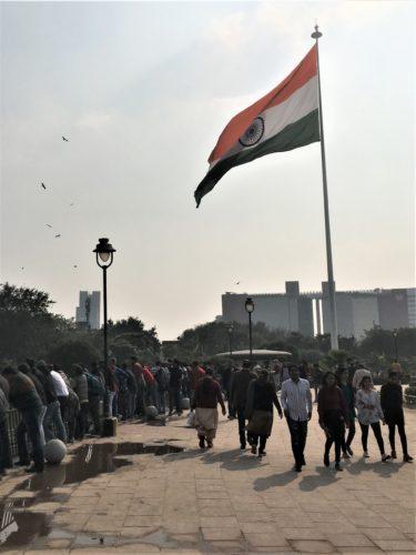 インド旅行 デリー セントラルパーク 国旗
