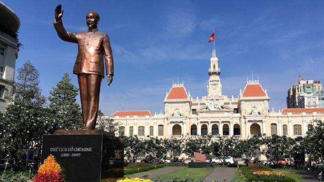 ベトナム旅行 Ho Chi Minh像